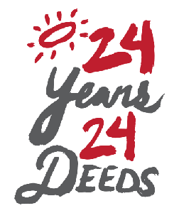 24 Years 24 Deeds Logo