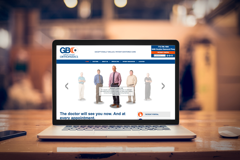 Great Basin Orthopaedics website