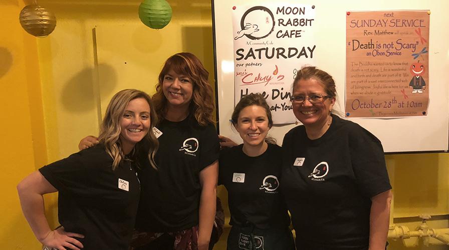 moon rabbit cafe servers