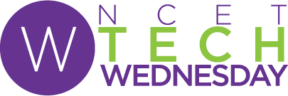 NCET Tech Wednesday logo