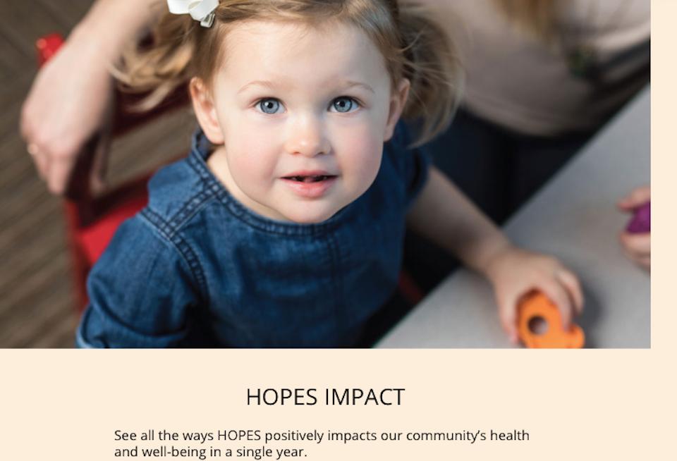 Marketing for Northern Nevada HOPES - little girl